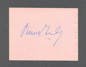 Warren-Giles-signed-vintage-1960-039-s-baseball-album-page