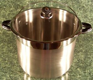 Image Is Loading 24 Quart Stainless Steel Stock Pot W Gl