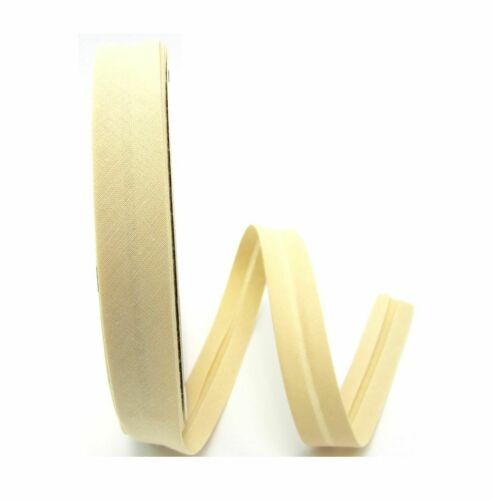 beige chiaro spigoli nastro cucire Metraggio 30mm Nastro Inclinato Cotone 1 metri
