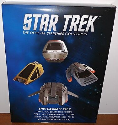 EAGLEMOSS STAR TREK STARSHIPS COLLECTION SHUTTLECRAFT SET 6 IN STOCK