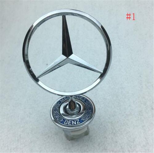 3D Chrome Star Metal Front Hood Logo Emblem Badge for Mercedes Benz C// E//S-class