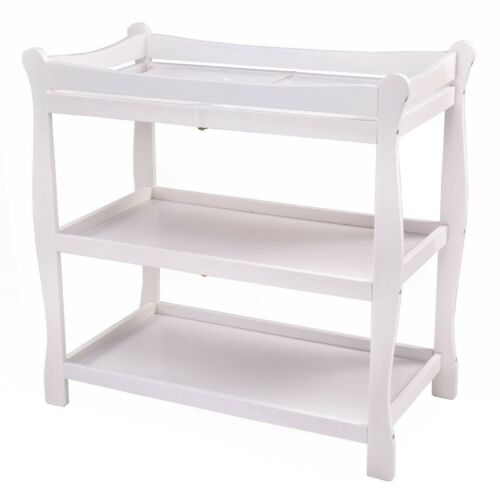 US Sleigh Style Newborn Baby Changing Table Infant Nursery Diaper Station