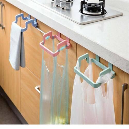 Cupboard Door Back Trash Rack Bag Storage Garbage Holder Hanging Kitchen Cabinet