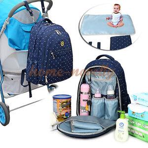uk large baby diaper nappy changing rucksack mummy stroller hanging bag backpack ebay. Black Bedroom Furniture Sets. Home Design Ideas