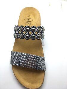 Zapatos Sandalias Cuña Mercante di fiori Mujer Negro