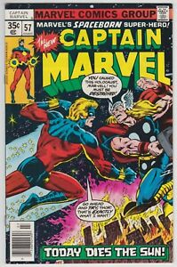 Captain-Marvel-57-VF-8-5-Rick-Jones-Thor-Today-Dies-The-Sun
