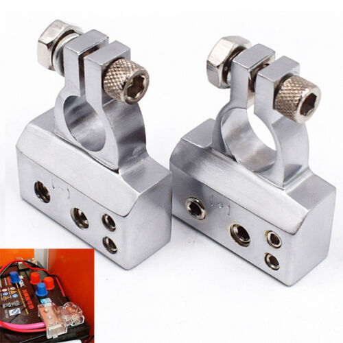 Newly Car Battery Terminal Clamp Copper Alloy Connector POSITIVE /& NEGATIVE Kit