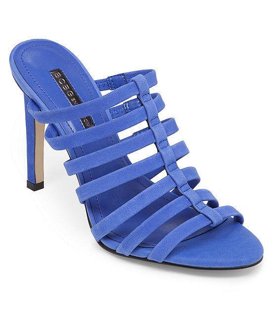 BCBG BCBGeneration Callie Size 7 Blue Pelle Shoes New Donna Shoes Pelle 514dff