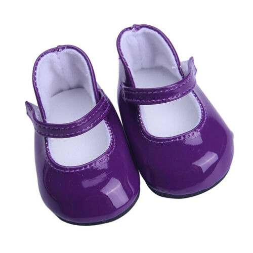 Lovely Dolls Purple PU Leather Shoes for 18/'/' AG American Doll Dolls Costume