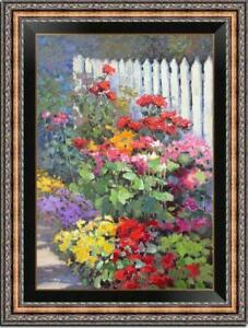 "Hand painted Oil painting original Art Landscape Flower on canvas 24""x36"""