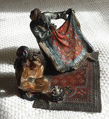 Austrian Bronze Bruno Zach oriental carpet merchants original paint