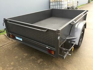 BRAND-NEW-bike-Box-Trailer-THICK-FLOOR-8X5-HIGH-SIDE-7x4-8x4-7x5-9x5-available