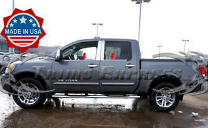 Luxury FX Stainless Steel Sill Trim for 1999-16 Ford F-250//350 SD Crew Cab 4pc