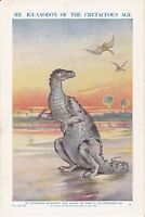 Iguanodon of the Cretaceous Age;  Scarce print circa1940s