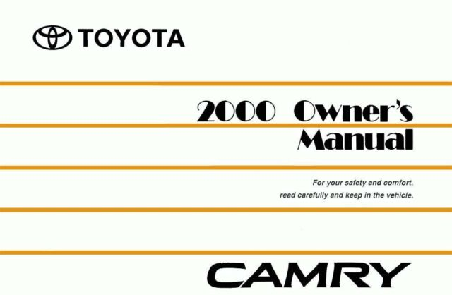 bishko oem repair maintenance owner s manual toyota camry 2000 ebay rh ebay com 2000 toyota camry service manual download 2000 toyota camry owners manual pdf