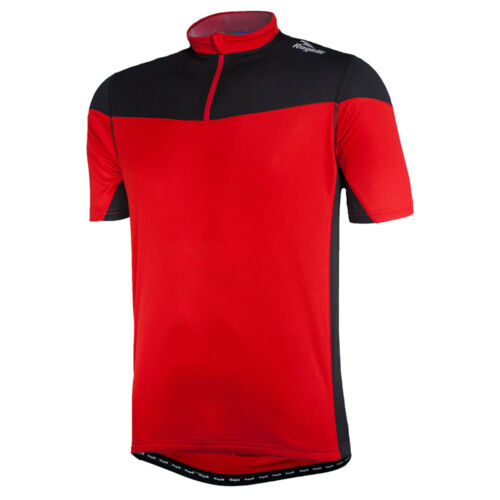 Mens Cycling Jersey Short Sleeve Rogelli 1//2 Zip Comfort Fit Red Black Mazzin