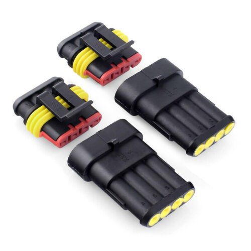 1//2//3//4//5 6Pin Way Car Auto Sealed Waterproof Electrical Wire Connector Plug Kit