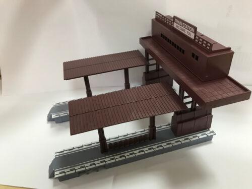 ZT003 1Stk Modellbahnsteig Zweiseitiger Eisenbahnplan Spur H0