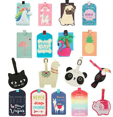 Cute Alpaca Llama Cactus Luggage Tags Bag Travel Labels For Baggage Suitcase