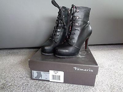 Tamaris Trend Damen Schuhe Stiefel Stiefeletten schwarz 1-25179-39 in Gr.37