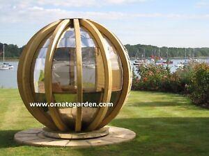 Rotating Sphere Lounger Pod Garden Building Ebay
