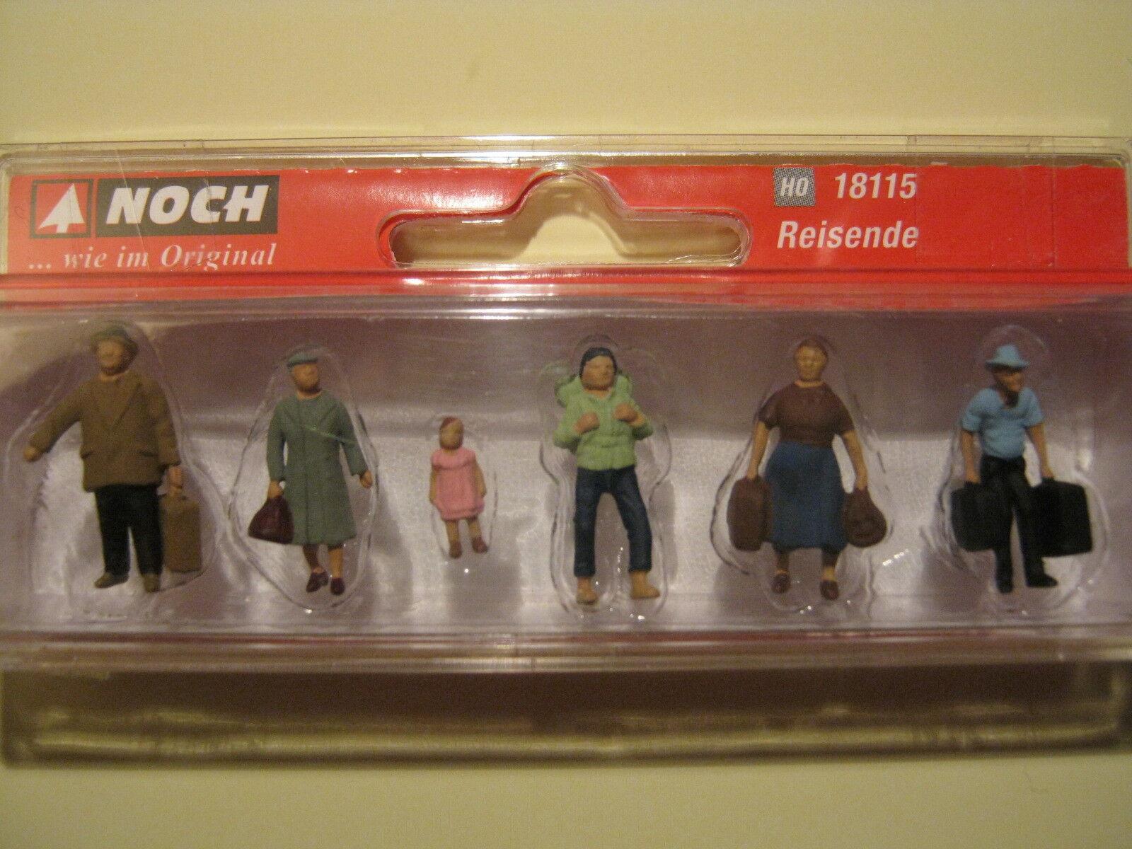 Noch H0 Figuren Figuren Figuren SET BAHNHOF NEU OVP 1 87 Lokführer Personal Reisende Sitzende d879f8
