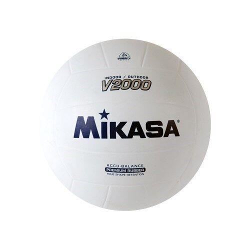 Mikasa Indoor-Outdoor Volleyball, Accu-Balance True Shape Retention Ball-White