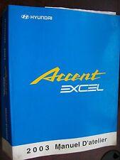 Hyundai ACCENT EXCEL 2003 : MANUEL D'ATELIER