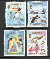 BRITISH ANTARCTIC TERRITORY 1997 CHRISTMAS PENGUINS SET UM/MNH