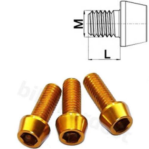 Aluminium Schraube M4 x 10 - 25 konisch DIN 912 Al7075 orange