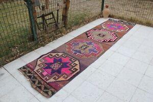 Vintage-Handmade-Turkish-Oushak-Runner-Rug-124-034-x32-034