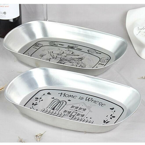 Retro Style Metal Fruit Dessert Serving Plate Dish Lazy Snack Tray Candy Box