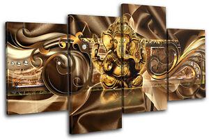 Ganesh Wall Art modern ganesh abstract multi canvas wall art picture print va | ebay