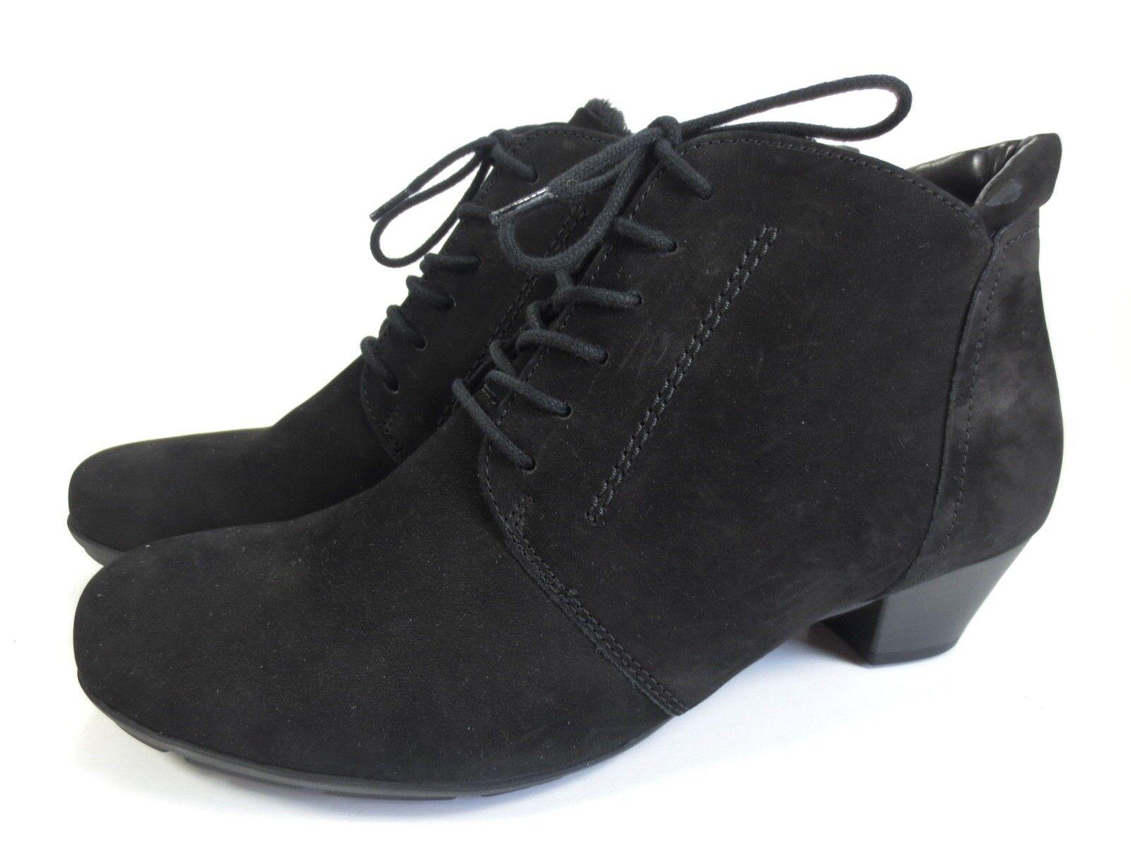 GABOR weiche Stiefeletten Leder Schuhe schwarz NEU 99,95