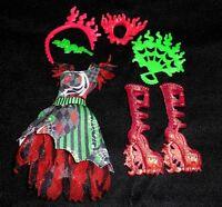 Jinafire Long Monster High Doll Clothes Outfit Boots Dress Chic Du Du Freak