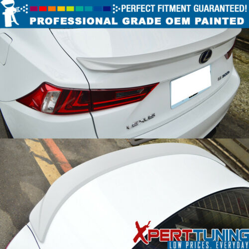 OEM Painted Color Fit 14-16 Lexus IS250 XE30 F Style Painted ABS Trunk Spoiler