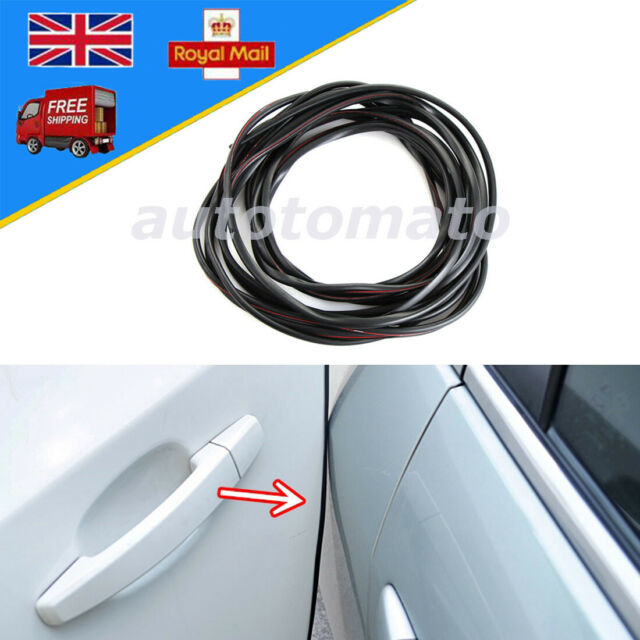 10m Black U Car Door Boot Edge Protector Seal Strip Guard Shape Weatherstrip