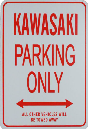 KAWASAKI PARKING ONLY MINIATURE FUN PARKING SIGN