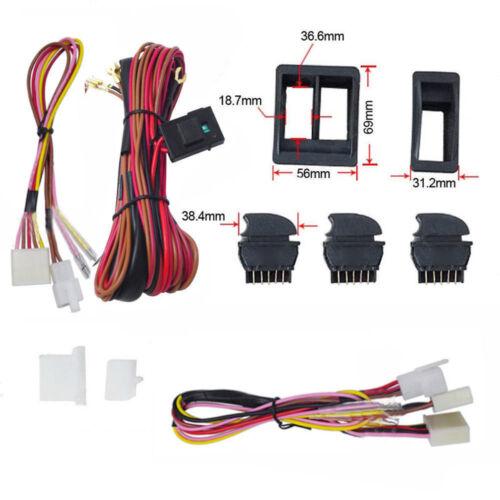 12V Universal Power Window Switch Kits W// Wiring Harness Switch Holder Quality