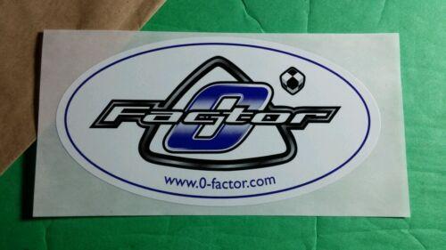 0 O FACTOR .COM OVAL BLUE WHITE 2X4 CAR RACING CHECKERED B/&W DICE STICKER