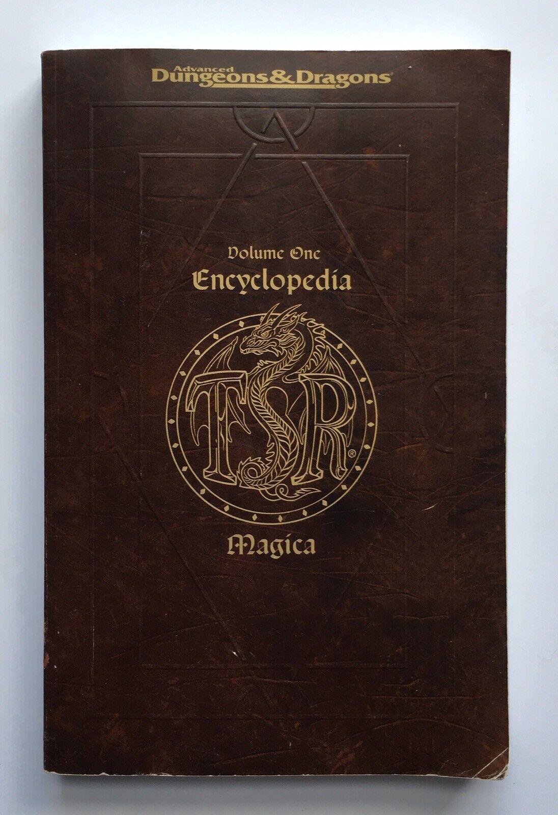 Encyclopedia Magica  A-C Vol 1 - ADVANCED DUNGEONS & DRAGONS  TSR 2141 SC