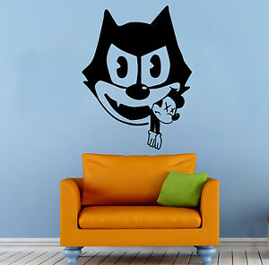 Image is loading Felix-the-Cat-Wall-Decal-Mickey-Mouse-Hero-  sc 1 st  eBay & Felix the Cat Wall Decal Mickey Mouse Hero Vinyl Sticker Art Home ...