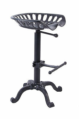 McKinley Deluxe Black Tractor Seat Stool Breakfast Stool Chair Bar Stool