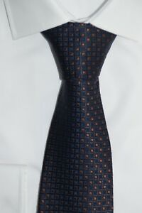 HUGO-BOSS-TAILORED-KRAWATTE-100-Seide-Hand-Made-in-Italy-Rust