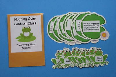 Teacher Made Literacy Center Educational Learning Resource Game Context Clues