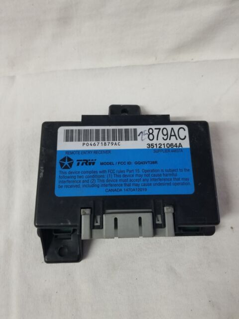 2005 Chrysler Oem Ecu Engine Control Module Check Part 04671879ac