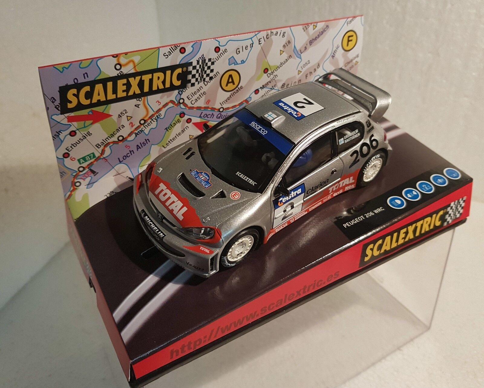 Qq 6125 SCALEXTRIC PEUGEOT 206 WRC TWO-TIME CHAMPION WORLD R AUSTRALIA '02