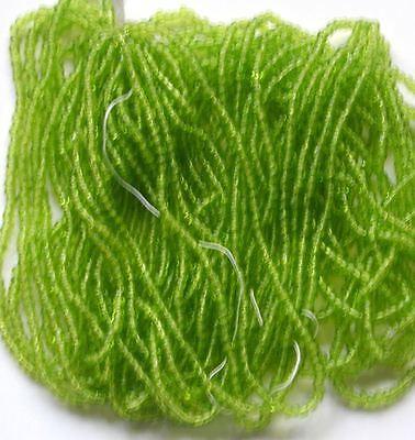 Vintage Lima Abalorios Semilla Chartreuse Verde 10/0 Transparente Vidrio 58g Ser Amigable En Uso