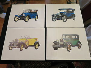4 Chevrolet Portraits Friends Magazine Unframed Early 1900 Models Issued