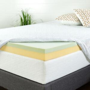 Zinus-4-Inch-Green-Tea-Memory-Foam-Mattress-Topper